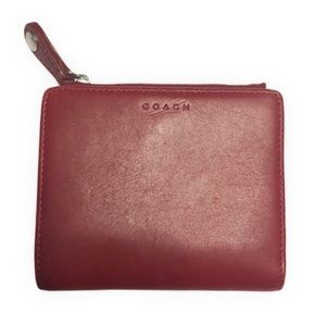 COACH  red leather vintage wallet